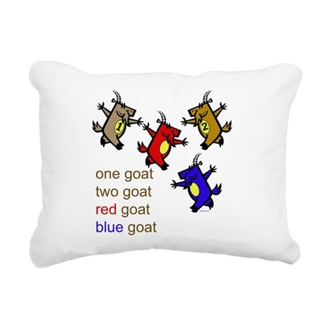 One Goat, Two Goat, Red Goat, Blue Goat Rectangula