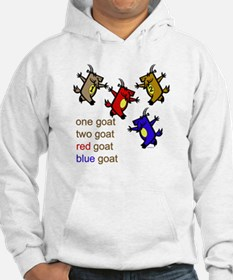 One Goat, Two Goat, Red Goat, Blue Goat Hoodie