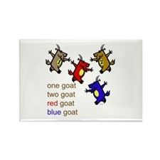 One Goat, Two Goat, Red Goat, Blue Goat Rectangle