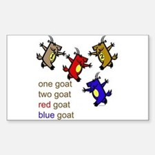 One Goat, Two Goat, Red Goat, Blue Goat Decal
