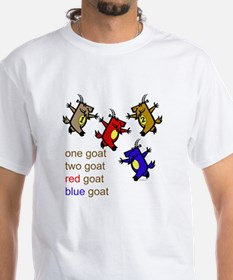 One Goat, Two Goat, Red Goat, Blue Goat Shirt