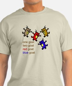 One Goat, Two Goat, Red Goat, Blue Goat T-Shirt