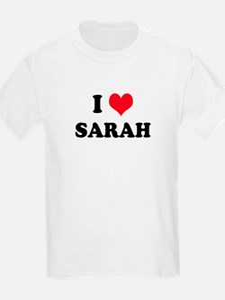 I HEART SARAH Kids T-Shirt