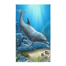 The World Of The Dolphin 3'x5' Area Rug