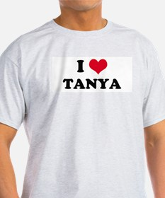 I HEART TANYA Ash Grey T-Shirt