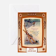On the ski slopes Greeting Card