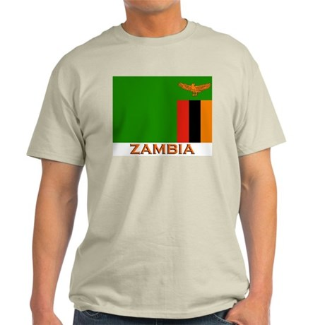 Zambia Flag Stuff Ash Grey T-Shirt