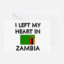 I Left My Heart In Zambia Greeting Cards (Package
