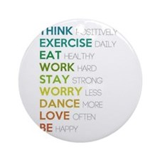 Eat, dance, love Ornament (Round)