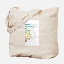 Eat, dance, love Tote Bag