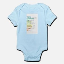 Eat, dance, love Infant Bodysuit