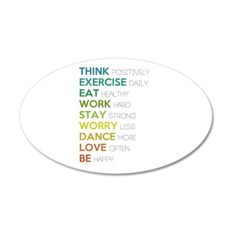 Eat, dance, love 35x21 Oval Wall Decal