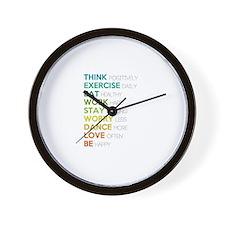 Eat, dance, love Wall Clock