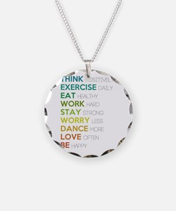 Eat, dance, love Necklace