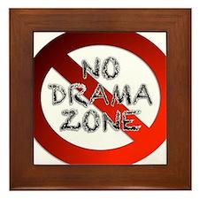 No Drama Zone Framed Tile