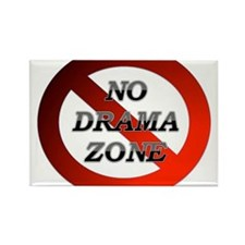 No Drama Zone Rectangle Magnet