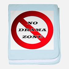 No Drama Zone baby blanket