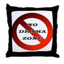 No Drama Zone Throw Pillow