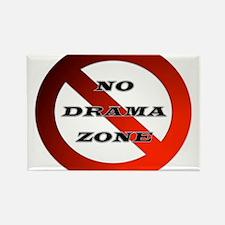 No Drama Zone Rectangle Magnet