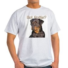 """Got Rottie?"" Ash Grey T-Shirt"