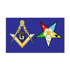 Masonic - Eastern Star Rectangle Car Magnet