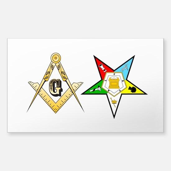 Masonic - Eastern Star Sticker (Rectangle)