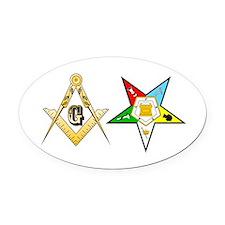 Masonic - Eastern Star Oval Car Magnet