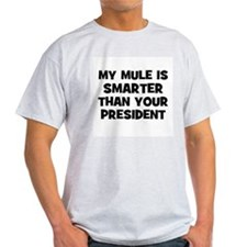 My Mule Is Smarter Than Your  Ash Grey T-Shirt