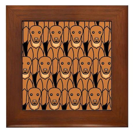 Pharaoh Hounds Framed Tile