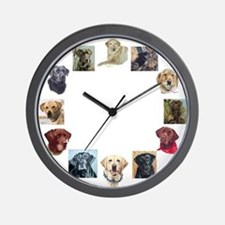 Labrador Portraits Wall Clock