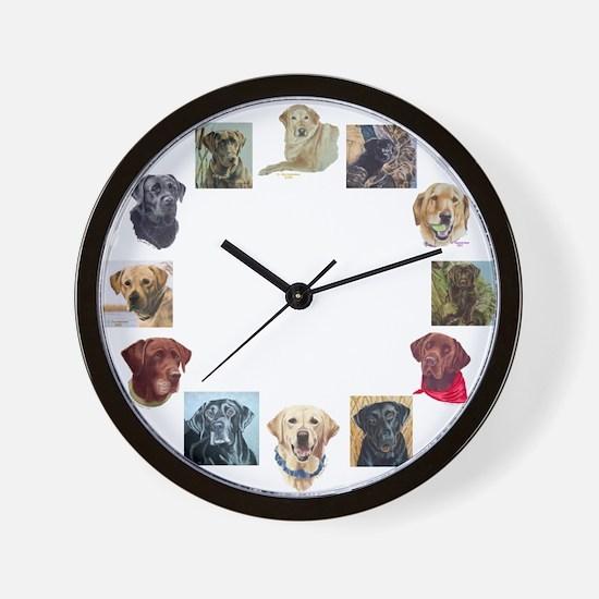 Labrador Portraits Wall Clock