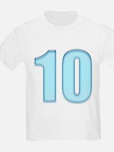 Number Ten 10 Blue Kids T-Shirt