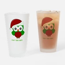 Christmas Owl Drinking Glass