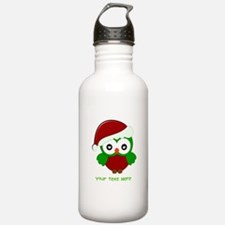 Christmas Owl Water Bottle