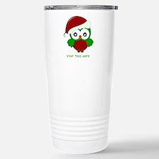 Christmas Owl Stainless Steel Travel Mug