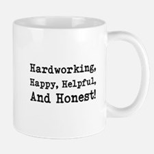 Hardworking, Slogan. Small Small Mug