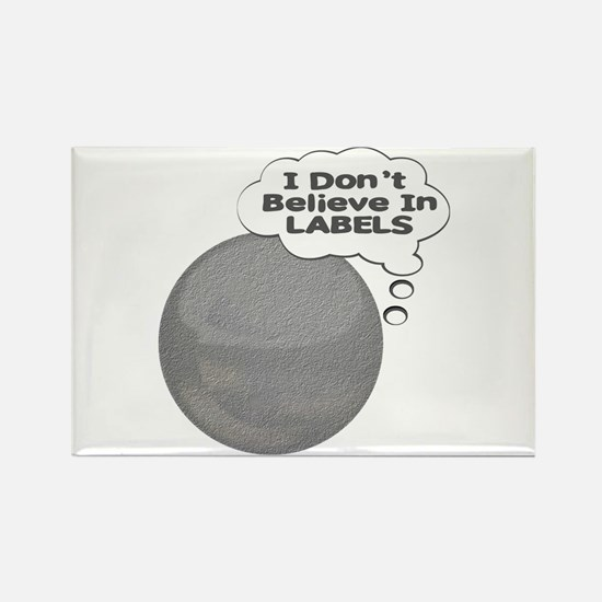 I Don't Believe In Labels Plu Rectangle Magnet