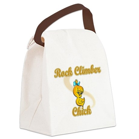 Rock Climber Chick #2 Canvas Lunch Bag