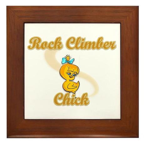 Rock Climber Chick #2 Framed Tile