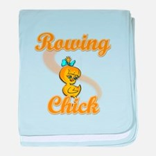 Rowing Chick #2 baby blanket