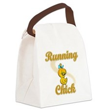 Running Chick #2 Canvas Lunch Bag