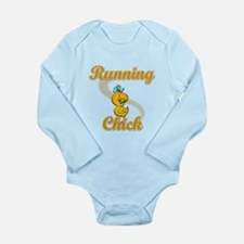 Running Chick #2 Long Sleeve Infant Bodysuit