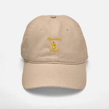 Running Chick #2 Baseball Baseball Cap