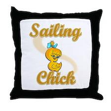 Sailing Chick #2 Throw Pillow