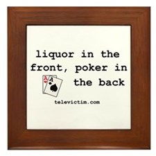 """liquor in the front"" Framed Tile"