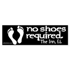 "No Shoes Required ""The Inn"" Bumper Sticker"