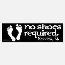 "No Shoes Required ""Seaview"" Bumper Bumper Sticker"