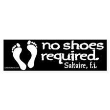 """No Shoes Required """"Saltaire"""" Bumper Sticker"""