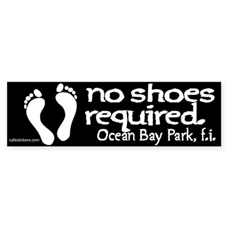 "No Shoes Required ""Ocean Bay Park"" Sticker"
