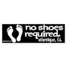 "No Shoes Required ""Atlantique"" Bumper Sticker"